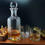 Dartington Crystal Dimple Decanter Set PERSONALISED ENGRAVED ref DCDS